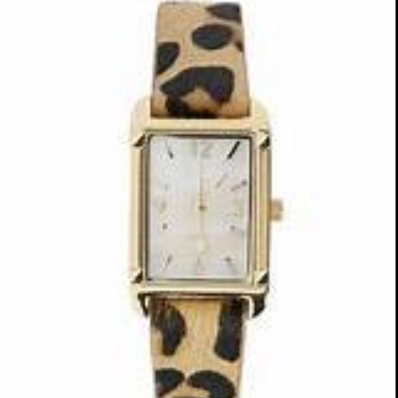 Stella & Dot leopard watch